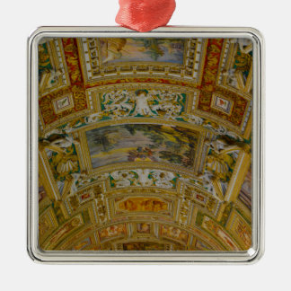 Ornement Carré Argenté Plafond dans le musée de Vatican à Rome Italie