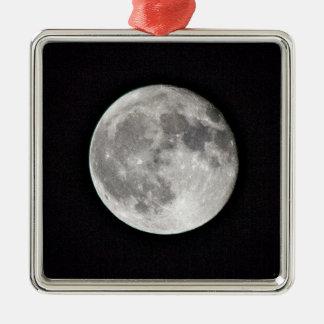 Ornement Carré Argenté Pleine lune