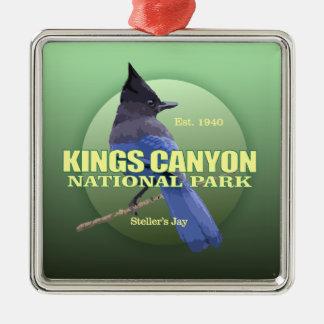 Ornement Carré Argenté POIDS des Rois Canyon NP (le geai de Steller)