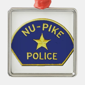 Ornement Carré Argenté Police de NU-Pike