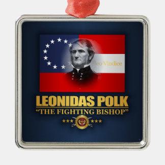 Ornement Carré Argenté Polk (patriote du sud)