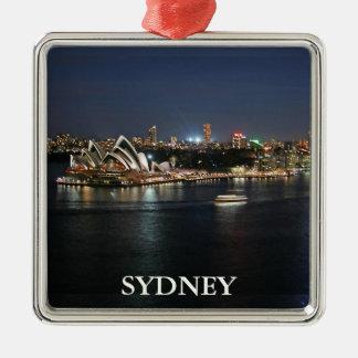 Ornement Carré Argenté Port de Sydney chez Quay circulaire