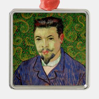 Ornement Carré Argenté Portrait de Vincent van Gogh | de Dr. Felix Rey,