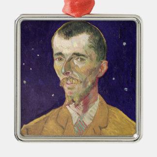 Ornement Carré Argenté Portrait de Vincent van Gogh | d'Eugene Boch 1888