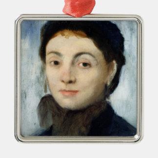 Ornement Carré Argenté Portrait d'Edgar Degas   de Josephine Gaujelin,