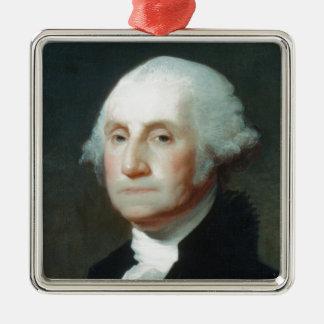 Ornement Carré Argenté Premier président : George Washington
