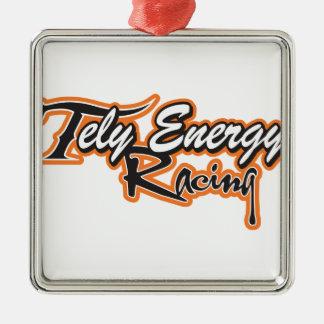 Ornement Carré Argenté Produits d'énergie de Tely