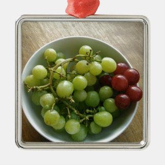 Ornement Carré Argenté raisins