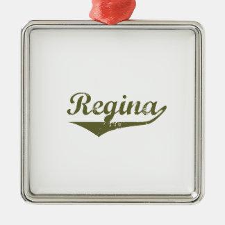 Ornement Carré Argenté Regina