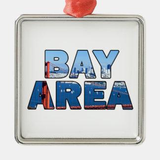 Ornement Carré Argenté Région de Baie de San Franciso