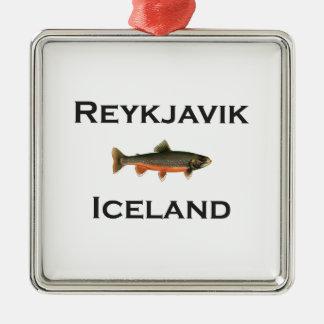 Ornement Carré Argenté Reykjavik Islande