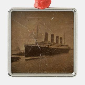 Ornement Carré Argenté RMS Titanic Southampton