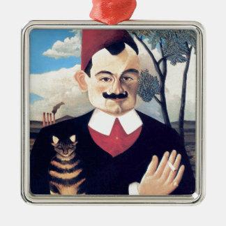 Ornement Carré Argenté Rousseau - portrait d'homme de Pierre Loti avec le
