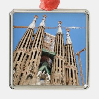 Ornement Carré Argenté Sagrada Familia à Barcelone, Espagne