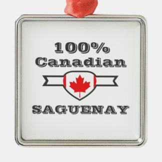 Ornement Carré Argenté Saguenay 100%