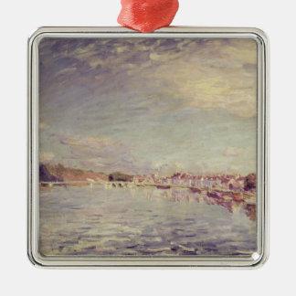 Ornement Carré Argenté Saint-Mammes d'Alfred Sisley |