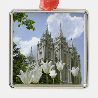 Ornement Carré Argenté Salt Lake City, Utah, temple mormon