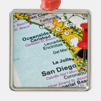 Ornement Carré Argenté San Diego, la Californie