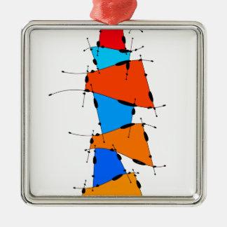 Ornement Carré Argenté Sanomessia - cubes de fonte