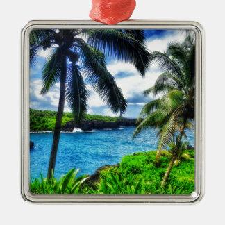 Ornement Carré Argenté Scène du Hawaïen IMG_1122 4