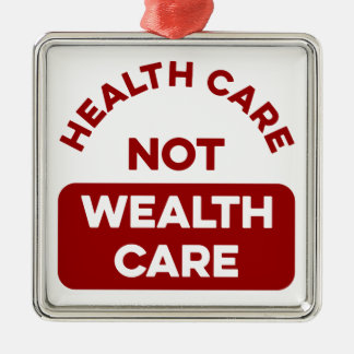 Ornement Carré Argenté Soin de richesse de soins de santé pas