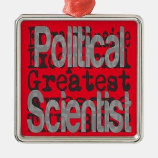 Ornement Carré Argenté Spécialiste des Sciences Politiques Extraordinaire