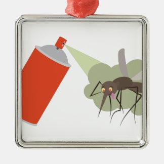 Ornement Carré Argenté Spray anti-insectes