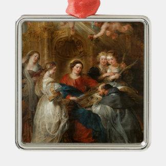 Ornement Carré Argenté St de triptyque Idelfonso - Peter Paul Rubens
