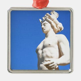 Ornement Carré Argenté Statue d'Apollo (Neptune)