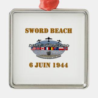 Ornement Carré Argenté Sword Beach 1944