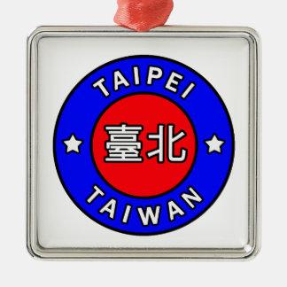 Ornement Carré Argenté Taïpeh Taïwan