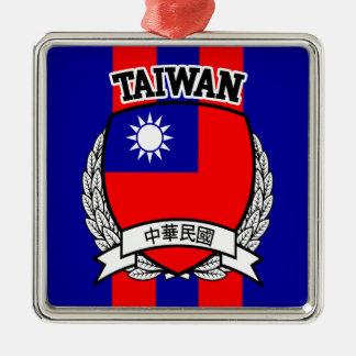 Ornement Carré Argenté Taïwan