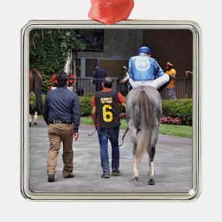 Ornement Carré Argenté Tapceptional - course de chevaux de fer