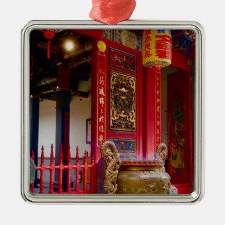 Ornement Carré Argenté Temple dans Yilan, Taïwan