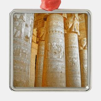 Ornement Carré Argenté Temple de Dendera