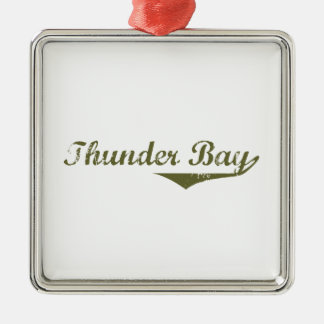 Ornement Carré Argenté Thunder Bay