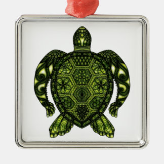 Ornement Carré Argenté Tortue 2b