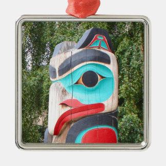 Ornement Carré Argenté Totem Polonais, Anchorage, Alaska 2 de Natif