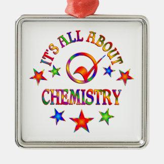 Ornement Carré Argenté Tout au sujet de la chimie