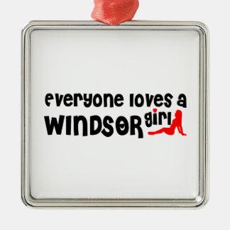 Ornement Carré Argenté Tout le monde aime une fille de Windsor