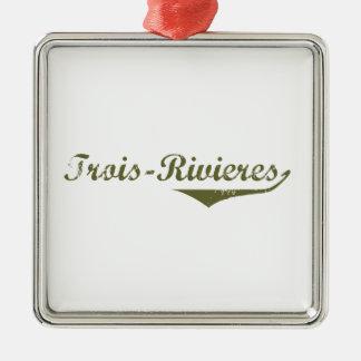 Ornement Carré Argenté Trois-Rivières