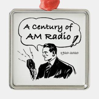 Ornement Carré Argenté Un siècle de radio d'AM