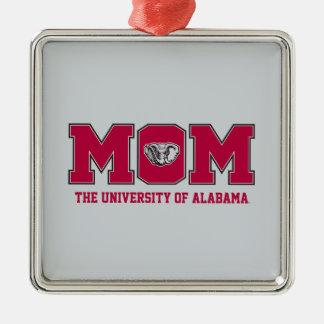 Ornement Carré Argenté Université de maman de l'Alabama avec de l'Al