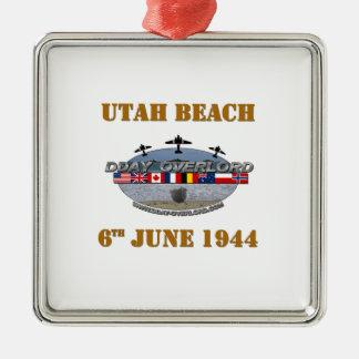 Ornement Carré Argenté Utah Beach 6th June 1944