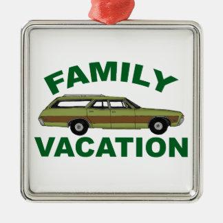 Ornement Carré Argenté vacances de famille 80s