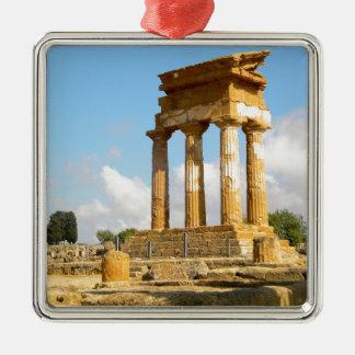 Ornement Carré Argenté Vallée des temples Sicile