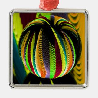 Ornement Carré Argenté Variation ColoursI de boule