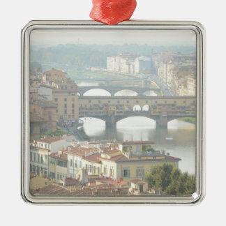 Ornement Carré Argenté Vieux pont Florence Italie de Ponte Vecchio
