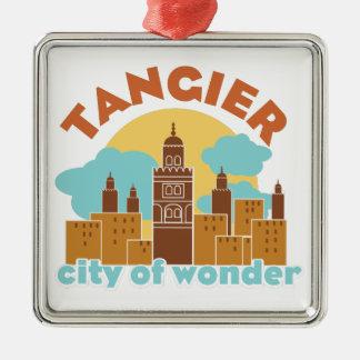 Ornement Carré Argenté Ville de Tanger de merveille