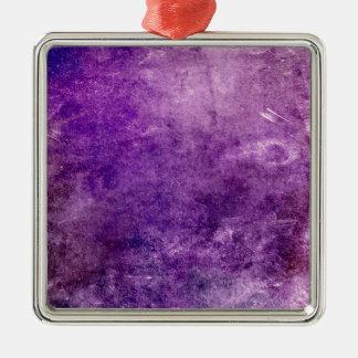 Ornement Carré Argenté Violette abstraite